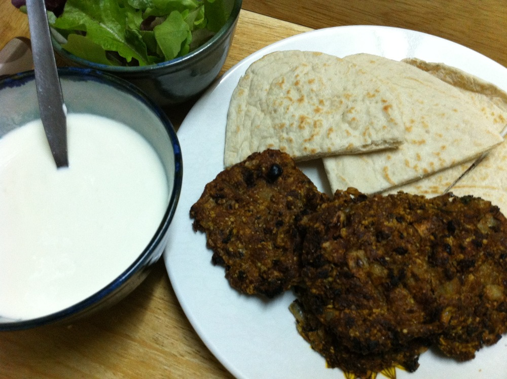 BEAN BURGERS with Lime Yoghurt