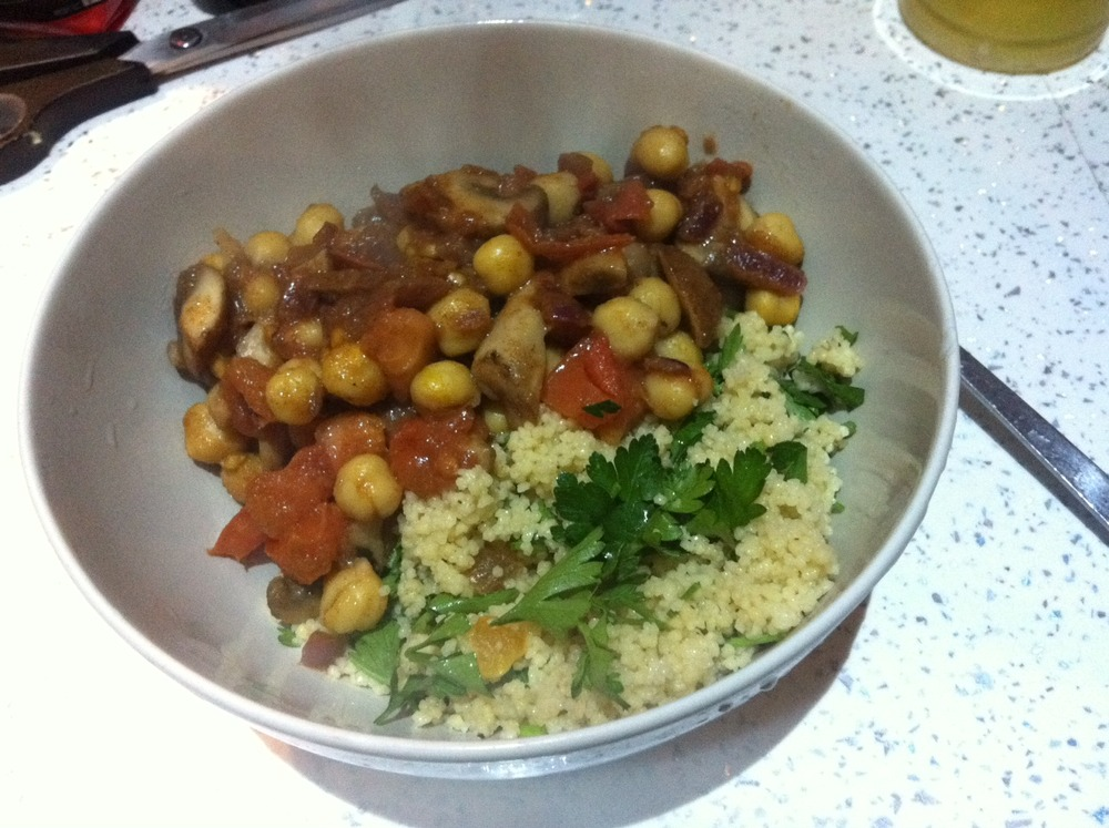 Mmmore vegan tasties: Moroccan mushrooms with couscous