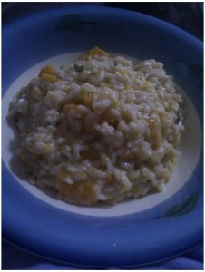 Squash and gorgonzola risotto made by @hollyzone.